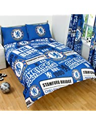 Chelsea Official Patch Double Duvet Cover Set Blue by Chelsea F.C.