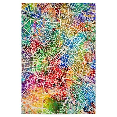 artboxONE Poster Berlin Germany City Map Colours von Künstler Michael Tompsett
