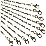 NBEADS 10 Fili 80cm Catena per Gioielli, Catena per Cavi con Fibbia in Ferro per Collana Fai-da-Te Braccialetti Bronzo Antico