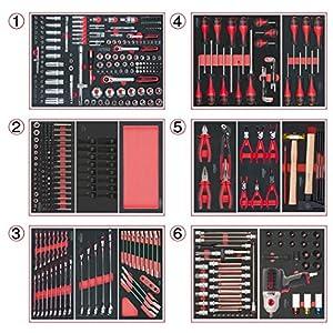KS Tools 714.0425 Composition de 429 Outils 6 tiroirs pour servante pas cher