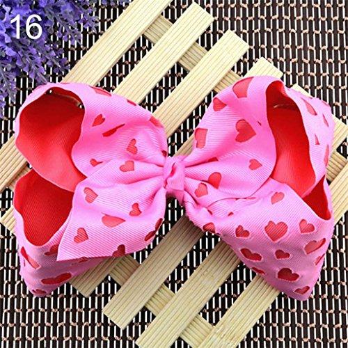 rl Ribbon Stirnband Big Hair Bows Boutique Haarspange Bunte Haar Zubehör Kleinkinder size 16 (Boutique Für Kleinkinder)