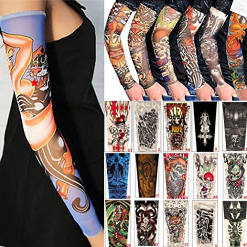 Chshe 6pcs unisex temporary fake slip on tattoo arm for Tattoo sleeve price