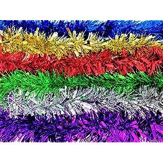 YLAB Espumillón Colores: 6 hebras, 2 Metros Cada hebra