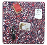 #5: Marine Pearl (1.5 X 1.5 Feet) Designer Pin Board / Photo Display Board / Notice Board - Feet (Square Printed)