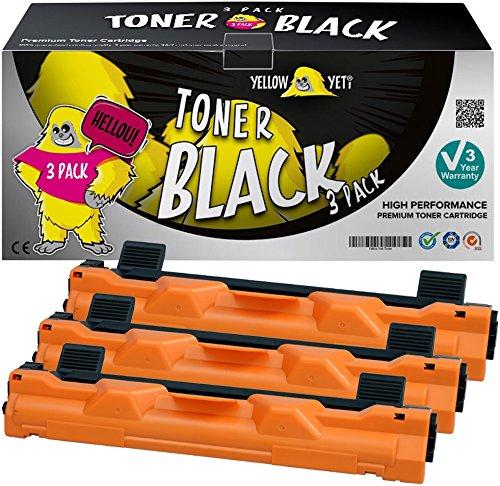 Yellow Yeti TN1050 (1000 páginas) 3x Tóner compatible para Brother HL-1110 HL-1112 DCP-1510 DCP-1512 DCP-1610W DCP-1612W HL-1210W HL-1212W MFC-1810 MFC-1910W [3 años de garantía]
