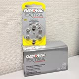 Rayovac PR-70 (10) Extra Advanced 1.4V Zinc-Air Hearing-Aid Battery Bulk Pack (60pcs)