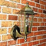 Antike Wand-Außenleuchte Paris / IP44 aus Aluguss/rustikaler Stil/wettergeschützte Wandlampe für Außen Hof Garten