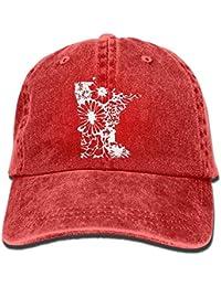 Rghkjlp Gorra de Jeans de béisbol Minnesota con diseño Floral-1 Sombreros  de Golf para 8cf494f68eb
