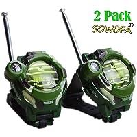 SOWOFA Multifunctional Wrist Walkie Talkies Watch Long Range Radios with 3 Miles and Above Range Radio Transceiver Outdoor Interphone Kids Toys