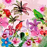 Ambiente Serviettes Lunch/Party env. 33 x 33 cm TROPICAL