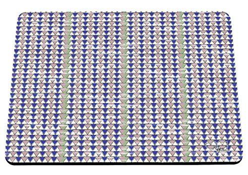 hippowarehouse Geometrische Dreieck Muster bunt bedruckt Mauspad Zubehör Schwarz Gummi Boden...