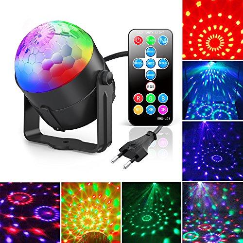Discokugel, Gvoo LED Party Licht Disco Party Licht 7 Farbenkonbinationen aus 3 Farben, Bühnenbeleuchtung Effektlicht, für Kinder Spielzeug...