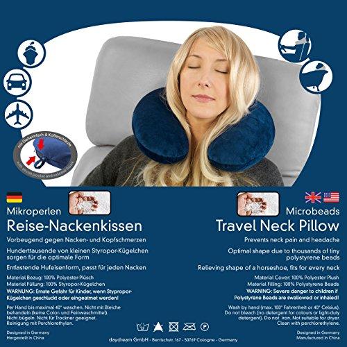 daydream Reise-Nackenkissen (mit Mikroperlen), dunkelblau (N-5005) - 2