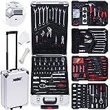 Masko® 725 Werkzeugkoffer Werkzeugkasten Werkzeugkiste Werkzeug Trolley ✔ Profi ✔ 725Teile ✔ Qualitätswerkzeug ✔ Silber