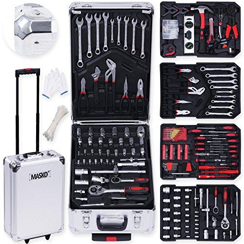 MASKO Valise multi outils 725 pieces gris