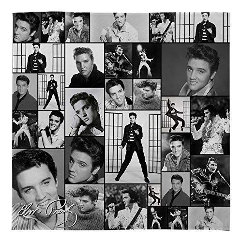 Groß Warm Sofa Fleece Überwurf Elvis Presley Montage B&w Weich Bett Decke Sessel (Elvis Presley-stoff)