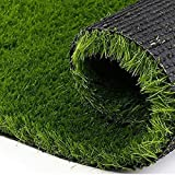 #9: Kuber Industries Arificial Grass For Floor, Soft And Durable Plastic Natural Landscape Garden Plastic Door Mat, Artificial Grass(60 cm x 38 cm x 1.5 cm) Grassmat14