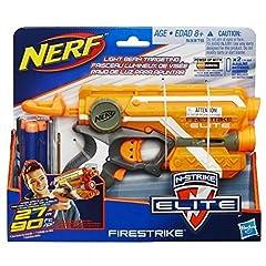 Idea Regalo - Hasbro Nerf 53378EU4 - Arma giocattolo modello N-Strike Elite Firestrike (nuova versione 2017), Colori Assortiti