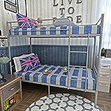 Keinode Etagenbett, 2 x 91,4 cm, Metall, Stahlrohr, modernes Schlafzimmer für Jugendliche, Kinder, Jugendliche, Erwachsene, 2 Stück Silber