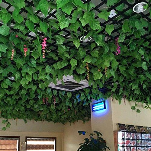 kingtoys® 2 pcs Artificiale Uva Foglie di Vite Piante Fiori per la cerimonia nuziale per la decorazione domestica, 2.3 m 66
