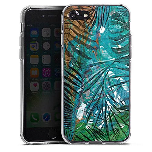 Apple iPhone X Silikon Hülle Case Schutzhülle Palmenblätter Dschungel Palme Silikon Case transparent