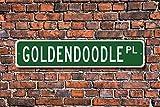 Goldendoodle Lover Aluminium Schild Neuheit Straßenschild Outdoor Garage Höhle Decor