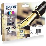 Epson EasyMail C13T16264511 Inchiostro Durabrite Ultra, colori assortiti, 16, pronto per il rifornimento di Amazon Dash (conf
