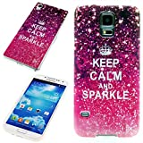 Handy Lux® Schutz Hülle Etui Silikon TPU Case Cover Design Motiv für HTC One mini 2 - Keep Calm and Sparkle