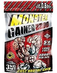 Vit-O-Best Monster Gainer 2200, Suplementos Alimentarios para Deportistas, Sabor a Chocolate - 3000 gr