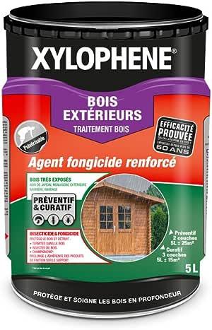 Xylophène Traitement Bois Extérieurs Anti Insectes Spécial Bois Très Exposés En Extérieur Incolore 5l