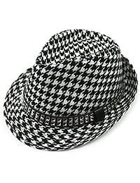 sombreros de chorlos Plaid caballeros para hombres y mujeres/Pequeña lana Corea mantener caliente en el sombrero de otoño y el invierno/ Señor del cinturón sombrero naranja