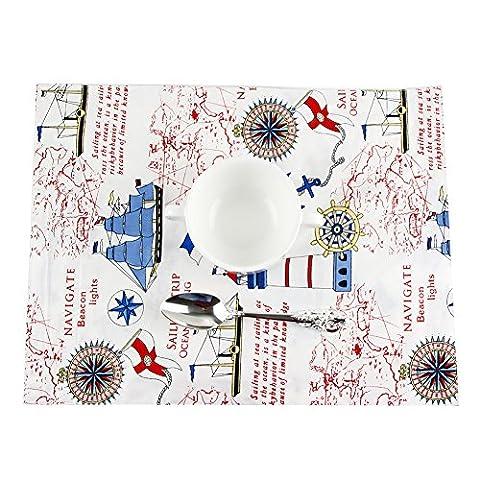 Chytaii Tapis de Table Napperon Serviette Tissu pour Vaisselle Déssiné Enfant