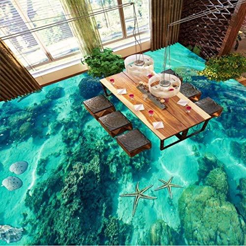 -Sitze Badezimmer Restaurant Einkaufszentrum Gang Flur Wasserdicht Bodentapete Wandbild-400X280Cm ()