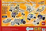 Metallbaukasten, 7er-Set, 840 Teile, bis zu 7 Modelle aufbauen, Tronico, inklusive Werkzeug