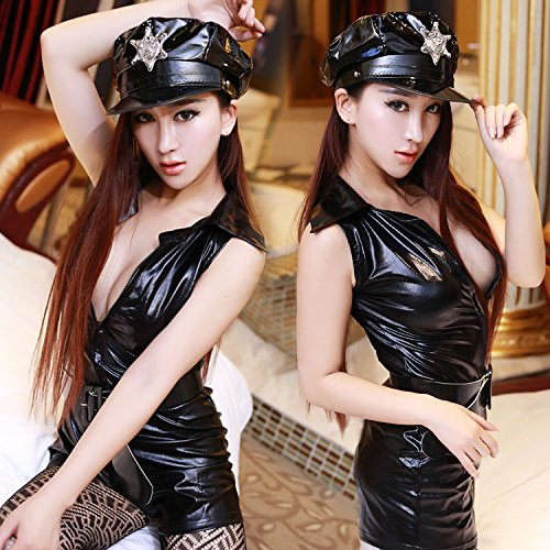 Roleeplay sexy Dessous, Women's Club, Extrem sexy, einheitliche, einteilige, Stewardess, Polizistin, Bühnenshow, Leidenschaft, (Womens Polizei Fashion Kostüme)