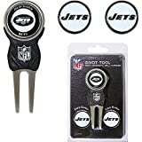 New York Jets NFL Divot Tool w/ Three Double Sided Ball Markers