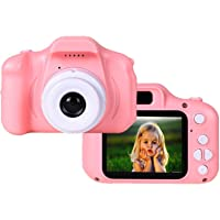 RS Digital Camera, Recorder Camera 800W HD 2.0 Inch Screen Video Front Camera for Children - Pink