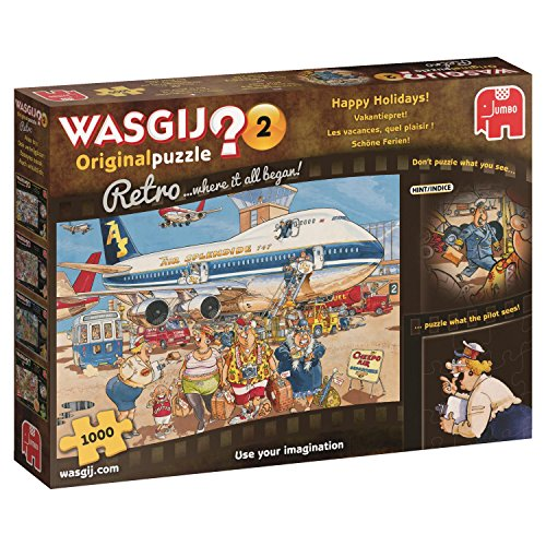 Jumbo 19153 - Wasgij Original Retro 2 Happy Holidays 1000 Teile Puzzle