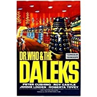 Dr Who and The Daleks with Peter Cushing Large Vintage 1960's Movie Poster