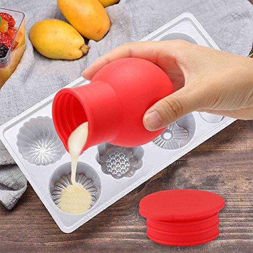 DEBEME Silikon Schokolade Butter Schmelztopf Sauce Tasse Hitze Milch Ausgießen Werkzeug für Küche Mikrowelle Kuchen Backzubehör - Mikrowelle Milch Tasse