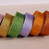 Generic 47 : (25yards/roll) 40mm Metallic Glitter Ribbon Colorful gift package ribbons wholesale A