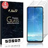J&D Compatibel voor Motorola Moto E7 Plus Screenprotector, 4-Pack Gehard Glas Niet Volledige Dekking Clear Ballistisch Glas S