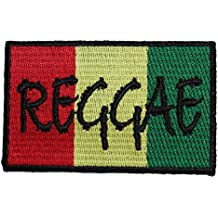 """Rasta Reggae PATCH parche - Officially Licensed Original Artwork, 2"""" x 3.5"""", Iron-On / Sew-On Embroidered Patch"""