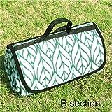 Estera de picnic impermeable marea de viaje playa camping pad estilo de la mano , B , 100*130cm