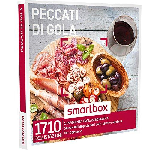 SMARTBOX - Cofanetto Regalo - PECCATI di Gola - Stuzzicanti degustazioni Dolci, salate o alcoliche