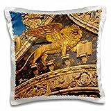 """Italy, Venice, Lion of San Marco Basilica-Eu16 Bjy0006--Pillow Case, 16 by 16"""""""