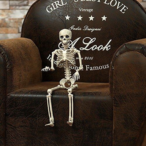 THEE Halloween Skelett Schädel Knochen Anatomie Lebensgroß Realistische Party Dekor 38cm
