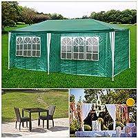 HG® Partyzelt verde Bierzelt Hochzeit Festzelt doble pared 3x6m Gartencamping Festival como un refugio y