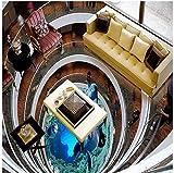 Chlwx 3D Wallpaper Custom 3D-Bodenbeläge Malen Wallpaper 3D Erdgeschoss Malerei Wandbild Wohnzimmer Badezimmer Fliese Wand Aufkleber 200Cmx150Cm