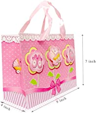 Fancy Gift Printed Paper Bag/Carry Bag/Beutiful Gift Carry Bag ***Pink*** Carry Bag Pack of 6 Bag by Ezellohub **Delivery Free*